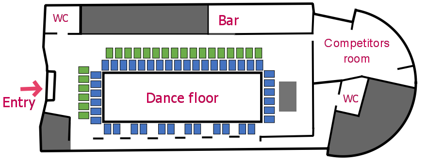 Plan of the room